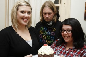 Me, Leith, Athina, GIANT cupcake